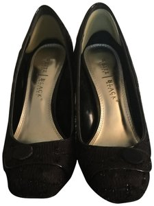 White House | Black Market Black Fabric Pumps
