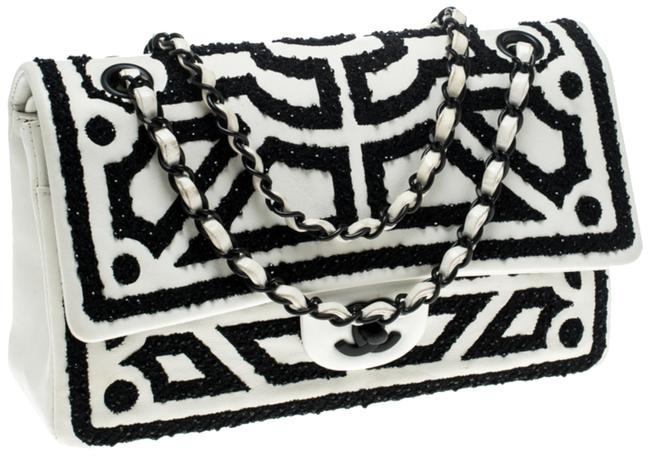 Item - Classic Flap Versailles Garden Limited Edition White and Black Lambskin Leather Shoulder Bag