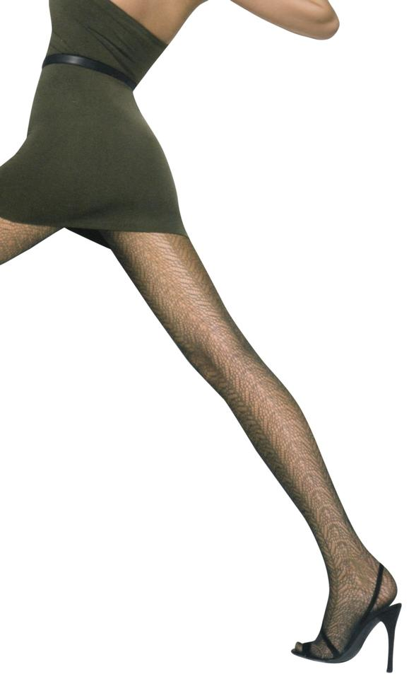 6f082aa78c22bb Wolford Honey Brown Flower Waves Tights Leggings Size 8 (M, 29, 30 ...