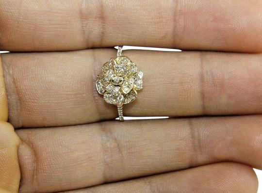 Preload https://img-static.tradesy.com/item/24180415/white-and-gold-flower-rose-diamond-cluster-cocktail-14k-yellow-45ct-ring-0-2-540-540.jpg