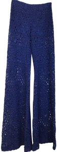 Nightcap Lace See Through Fun Wide Leg Pants Blue