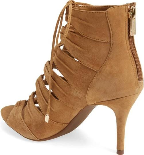 Jessica Simpson Suede Leather Nooties Lace Up Brown Pumps