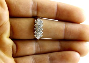 Other Round Diamond Cluster Lady's Ring Band 14k YG .90Ct