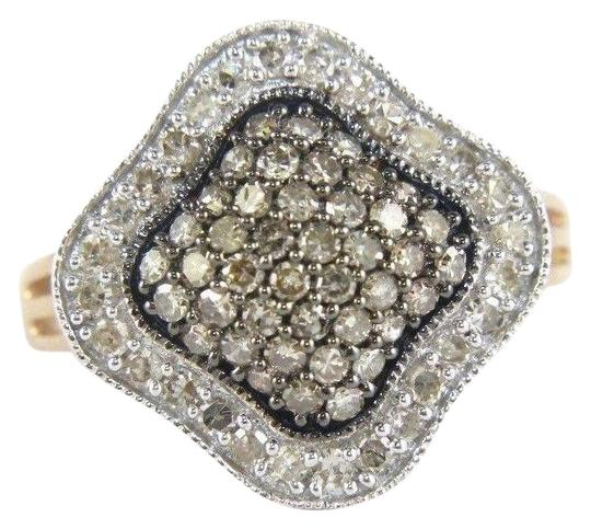 Preload https://img-static.tradesy.com/item/24180742/brown-and-rose-gold-fancy-pave-diamond-cluster-clover-lady-s-14k-rg-100ct-ring-0-1-540-540.jpg