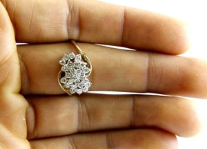 Other Round Diamond Cluster Bypass Lady's Ring Band 14k YG .85Ct