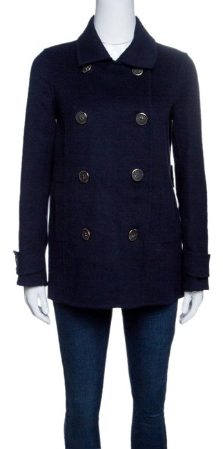 Preload https://img-static.tradesy.com/item/24180907/navy-blue-wool-double-breasted-coat-size-4-s-0-1-650-650.jpg