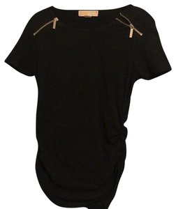 Michael Kors Collection T Shirt Black with silver zippers