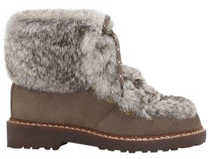 Arturo Chiang Brown Rabbit Fur Boots