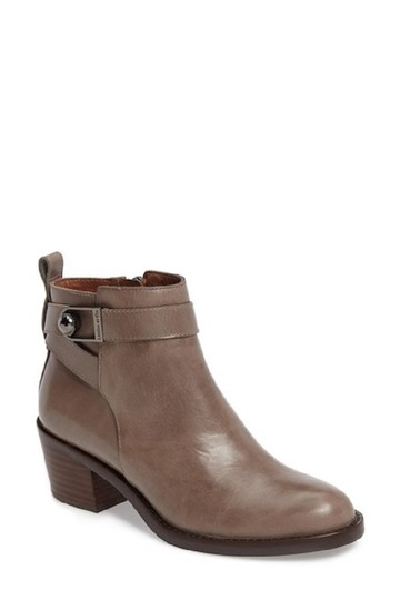Louise et Cie Leather Ankle Ankle Strap Grey Boots