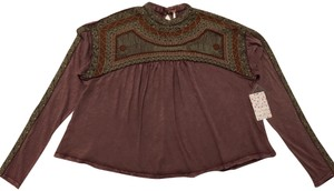 Free People Boho Top plum