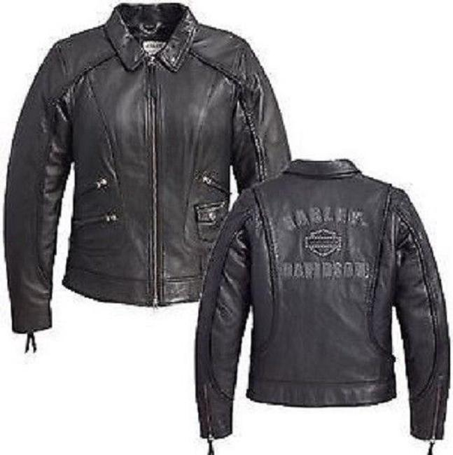 Harley Davidson Braided Large Size L Leather Jacket