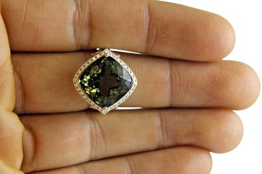 Preload https://img-static.tradesy.com/item/24181274/green-and-gold-cushion-cut-tourmaline-diamond-solitaire-14k-yg-1031ct-ring-0-2-540-540.jpg