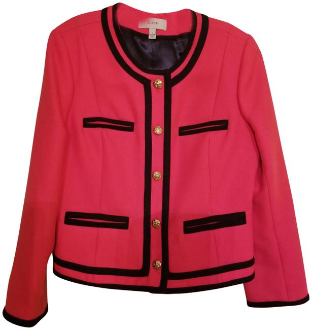 Preload https://img-static.tradesy.com/item/24181282/jcrew-pinknavy-double-serge-wool-lady-jacket-blazer-size-8-m-0-1-650-650.jpg