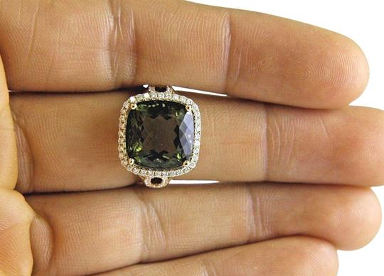 Preload https://img-static.tradesy.com/item/24181285/green-and-gold-cushion-tourmaline-diamond-solitaire-14k-yellow-g-909ct-ring-0-2-540-540.jpg