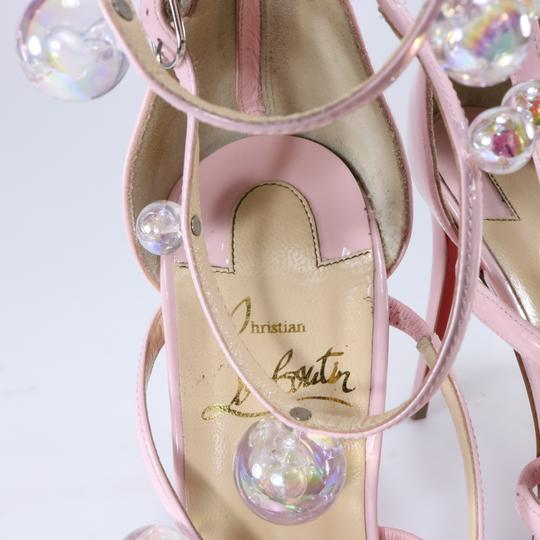 Christian Louboutin Ball Strappy Sandals Pink Pumps