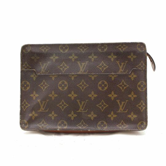 Preload https://img-static.tradesy.com/item/24181301/louis-vuitton-pochette-monogra-homme-zip-pouch-868310-brown-coated-canvas-clutch-0-0-540-540.jpg