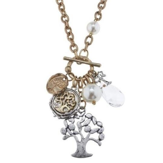 Preload https://img-static.tradesy.com/item/24181306/silver-and-gold-tree-of-life-cluster-necklace-0-0-540-540.jpg