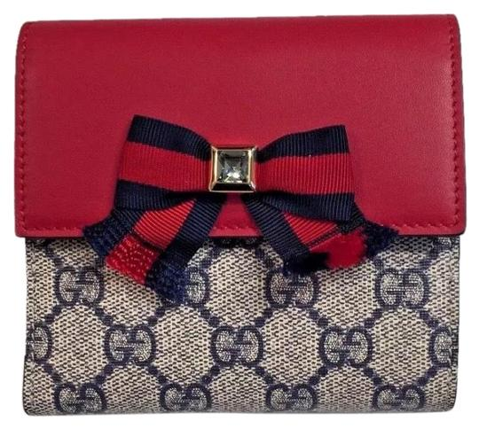 Preload https://img-static.tradesy.com/item/24181314/gucci-hibiscus-red-blue-multi-grosgrain-gg-supreme-french-flap-bow-wswarovski-crystal-wallet-0-1-540-540.jpg