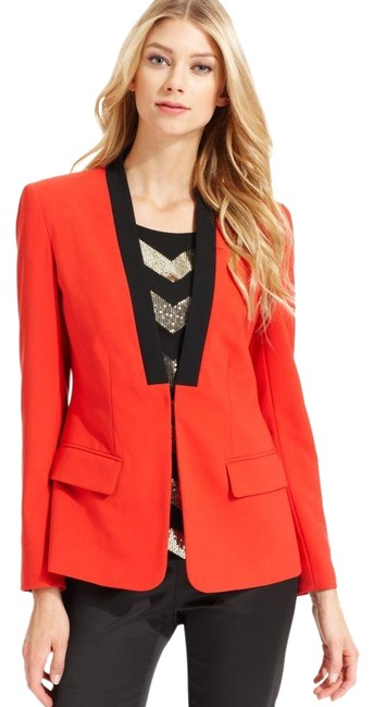 Preload https://img-static.tradesy.com/item/24181315/vince-camuto-red-and-black-tux-style-jacket-blazer-size-petite-12-l-0-2-650-650.jpg