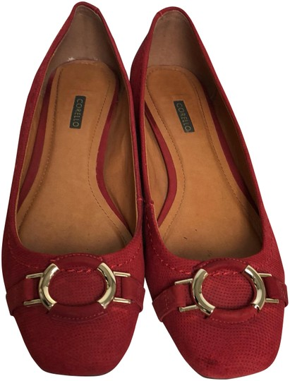 Preload https://img-static.tradesy.com/item/24181334/red-buckle-detail-suede-leather-40-flats-size-us-85-regular-m-b-0-1-540-540.jpg