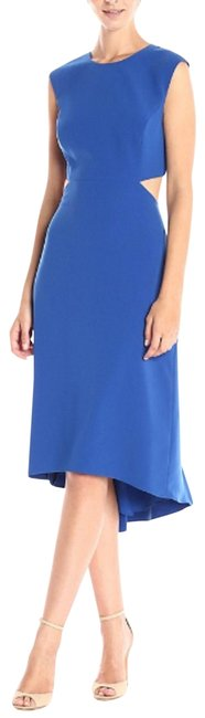 Preload https://img-static.tradesy.com/item/24181392/halston-blue-women-s-cap-sleeve-round-neck-with-back-cut-out-s-0-short-casual-dress-size-0-xs-0-1-650-650.jpg