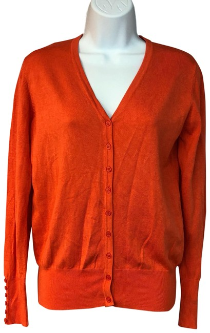 Preload https://img-static.tradesy.com/item/24181400/cielo-orange-california-cotton-blend-knit-cardigan-sweater-s-blouse-size-6-s-0-1-650-650.jpg