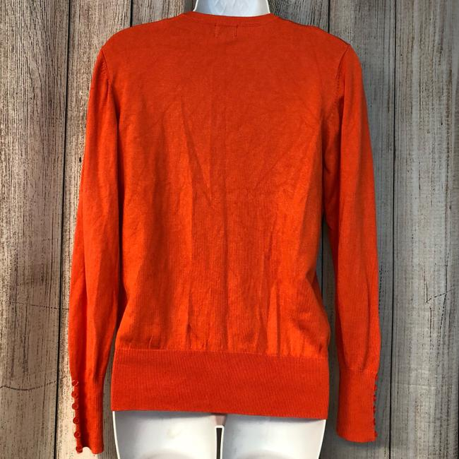 Cielo Knit Cardigan Top Orange