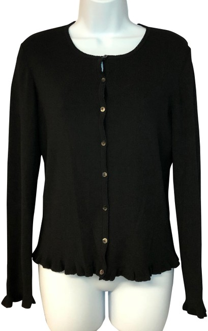 Preload https://img-static.tradesy.com/item/24181402/ann-taylor-black-rayon-blend-knit-sweater-s-cardigan-size-6-s-0-1-650-650.jpg