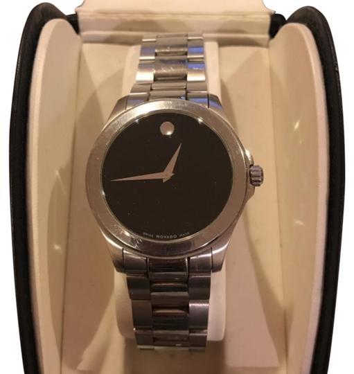 Preload https://img-static.tradesy.com/item/24181436/movado-stainless-steel-black-museumdial-38-39mm-case-unisex-84-e7-1891-watch-0-2-540-540.jpg