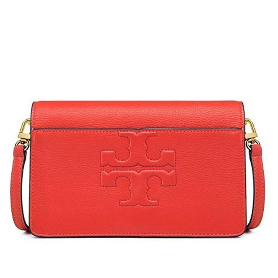 6cee43512e3 Tory Burch Bombe T Small Red Leather Cross Body Bag - Tradesy