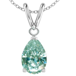 Unknown 1.00ct Bue Moissanite Necklace
