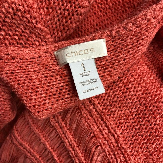 Chico's Knit Cardigan Top SALMON