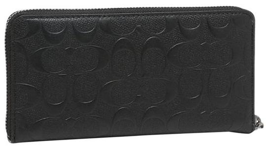 Preload https://img-static.tradesy.com/item/24181464/coach-black-men-s-embossed-logo-leather-zip-around-phone-long-58113-wallet-0-0-540-540.jpg