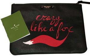 Kate Spade Crazy Like A Fox Fox Pouch Gia Green Clutch
