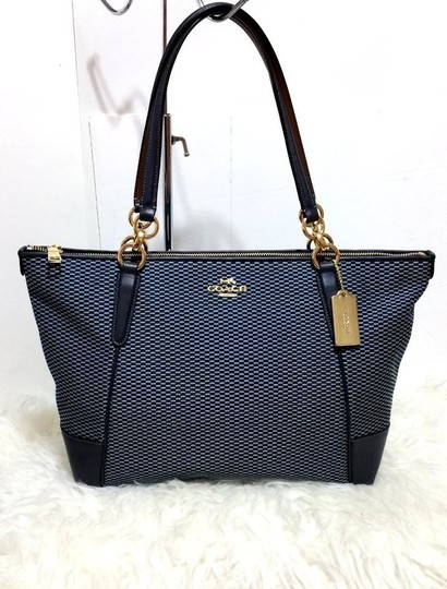 Coach Satchel Leather Satchel Ava 58318 Tote in BLue