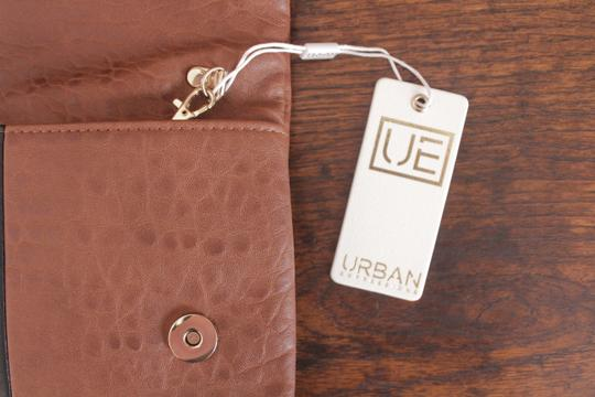 Urban Expressions Vegan Leather Sale Brown & Black Clutch
