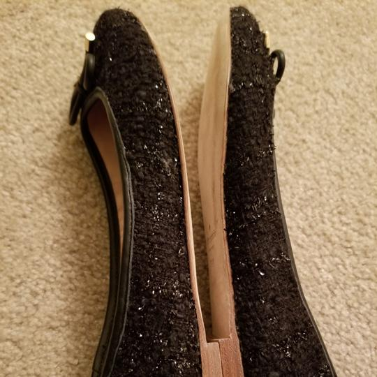 Kate Spade Black with a little silver threads Flats