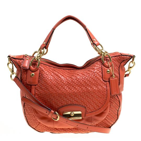 Preload https://img-static.tradesy.com/item/24181527/coach-and-woven-detail-kristin-orange-leather-shoulder-bag-0-0-540-540.jpg