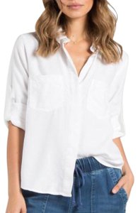 Bella Dahl Button Down Shirt white