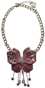 Betsey Johnson Betsey Johnson New Mauve Butterfly Necklace