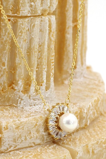 Ocean Fashion Gold Lovely pearl crystal necklace