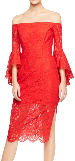Preload https://img-static.tradesy.com/item/24181577/milly-red-selena-off-shoulders-lace-mid-length-cocktail-dress-size-4-s-0-1-650-650.jpg