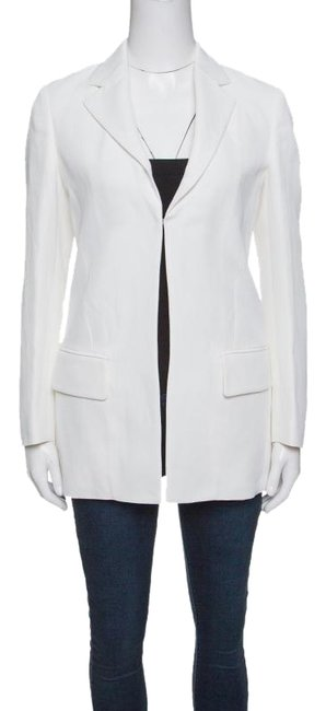 Preload https://img-static.tradesy.com/item/24181613/roberto-cavalli-white-firenze-off-tailored-blazer-size-0-xs-0-1-650-650.jpg