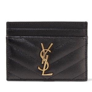 Saint Laurent YSL Textured Leather Card holder Wallet NWT