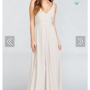 Show Me Your Mumu The Ring Crisp Chiffon? I Think Jen Traditional Bridesmaid/Mob Dress Size 8 (M)