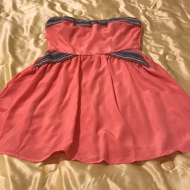 Charlotte Russe short dress Coral and multicolor design on Tradesy