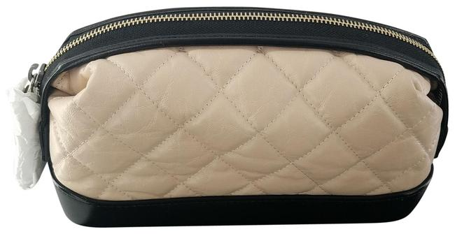 Chanel Gold Metal Gabrielle Classic Pouch Cosmetic Bag Chanel Gold Metal Gabrielle Classic Pouch Cosmetic Bag Image 1