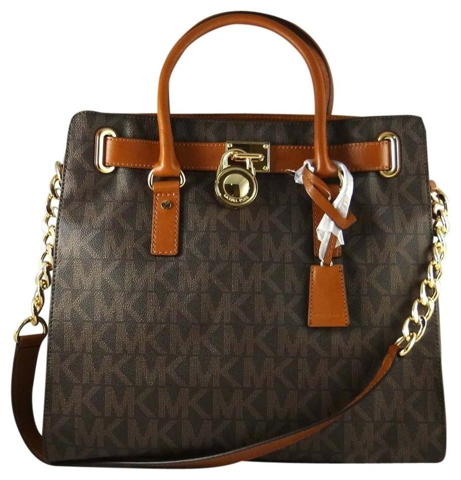 1cdc5f74c272 Michael Kors Bag Large Hamilton Monogram (New with Tags) Brown Signature/Gold  Hardware Pvc/Leather Tote