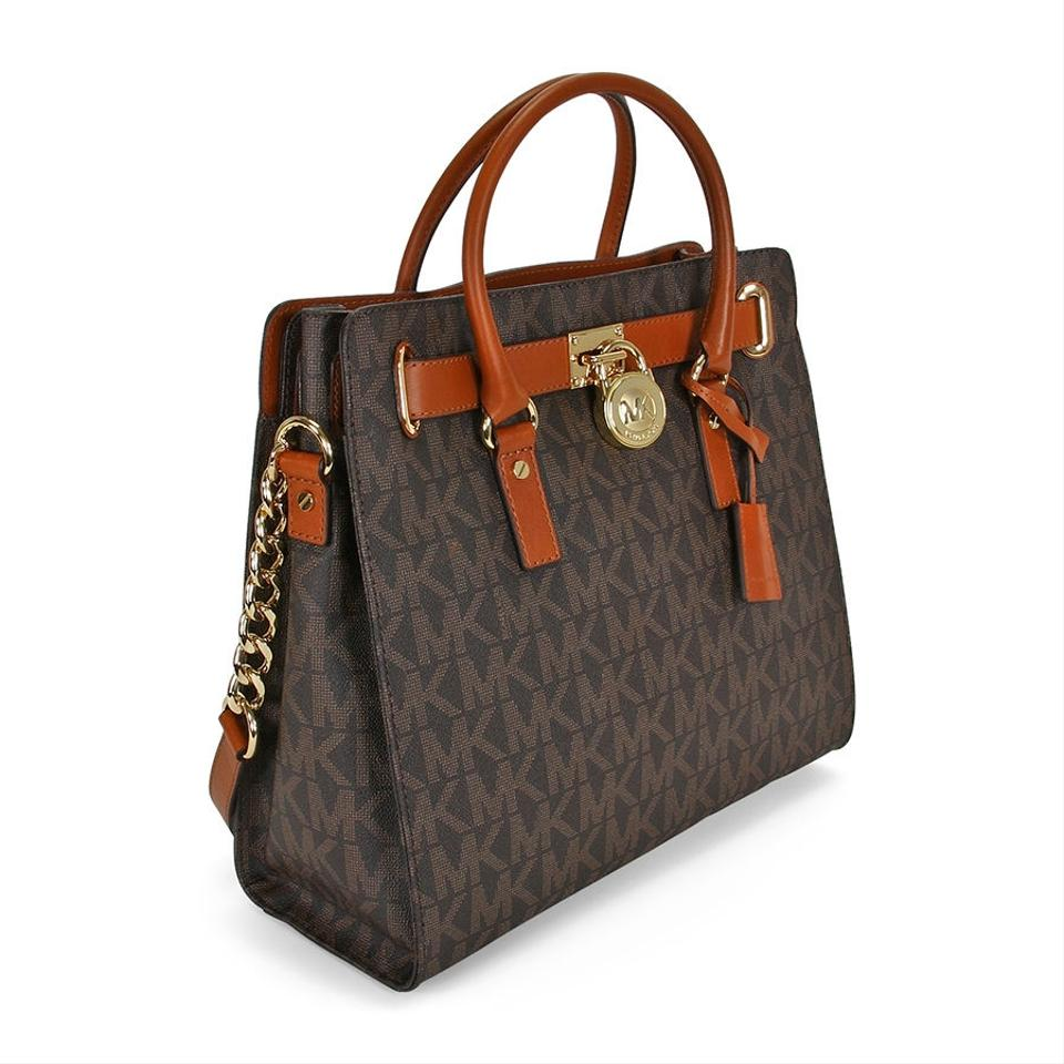 Michael Kors Bag Large Hamilton Monogram New With Tags Brown Signature Gold Hardware Pvc Leather Tote 32 Off Retail