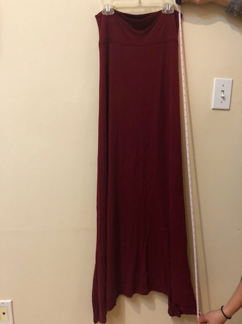 unknown Maxi Skirt Maroon